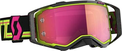 Scott Prospect MX Goggle Cross/MTB Brille schwarz/gelb/pink Chrom Works