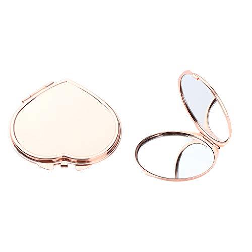 MERIGLARE 2pcs Femmes Miroirs De Maquillage Pliants Double Face Poche Sac Miroirs Compacts