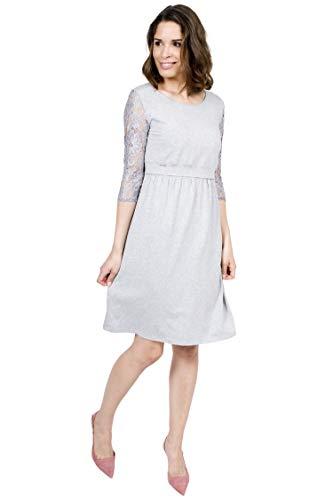 Mania Still-Kleid Umstandskleid Still-Mode Elegance in Grau (L/XL)