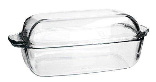 Simax Excellent feuerfestes Bocal Plat à gratin avec couvercle en verre résistant à la chaleur variantes, 5,3 L