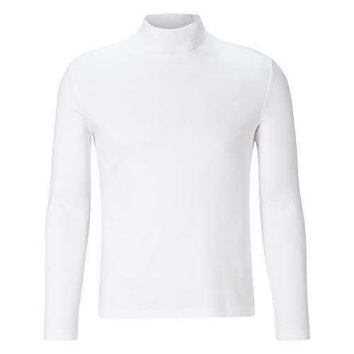 Lacoste Damen TF2310 Rollkragen-Oberteil, Rollkragen-Shirt Stehkragen hochgeschlossen enganliegend figurbetont,White (001),34