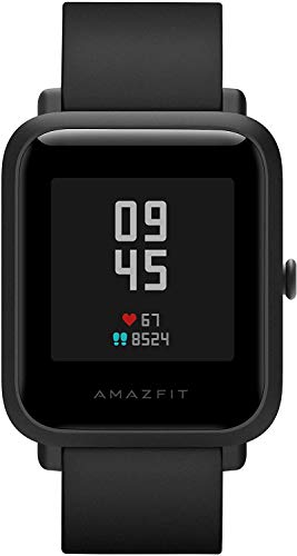 Amazfit Bip S Smartwatch 5ATM GPS GLONASS Inteligente Reloj Bluetooth Bip 2 para Android y iOS Version Global (Negro), 4+64GB
