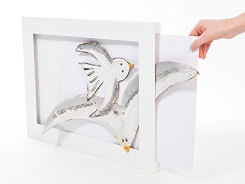 The Articulate Gallery A3 Single Bilderrahmen mit einseitigem Schlitz, MDF, Weiß, 47 x 35 x 2.3 cm