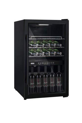 BRGWA49D - Frigorífico para vino (49 botellas, capacidad de 34 L, 3 estantes, temperatura ajustable de 5 °C a 20 °C)
