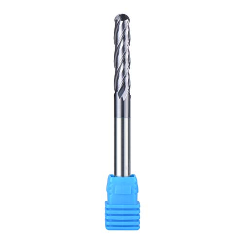 2mm WC-Co Hard Alloy Straight Shank Ball Nose End Mill