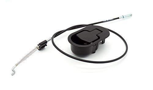Palanca con cable de sillón y sofá reclinable relax metálica negra. Cable *10,5 cm. de liberación.