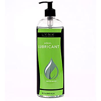 Lynk Pleasure Products Anal Lube Water Based 32 oz Sex & Intimacy Lubricant for Men Women and Couples