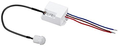 McShine - IR Einbau Bewegungsmelder   LX-635   360°, 230V / 800W, LED geeignet   zur Schaltung von z. B. Leuchten, LED, Motoren und Alarmanlagen geeignet