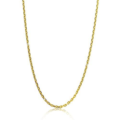 Orovi Damen Ankerkette Halskette 8 Karat (333) GelbGold Anker diamantiert Goldkette 1,2mm breit 45cm lange