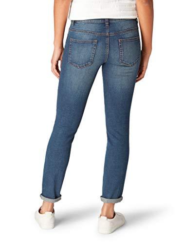 TOM TAILOR Damen Jeanshosen Alexa Slim Jeans Dark Stone wash Denim,29/32,10282,6000