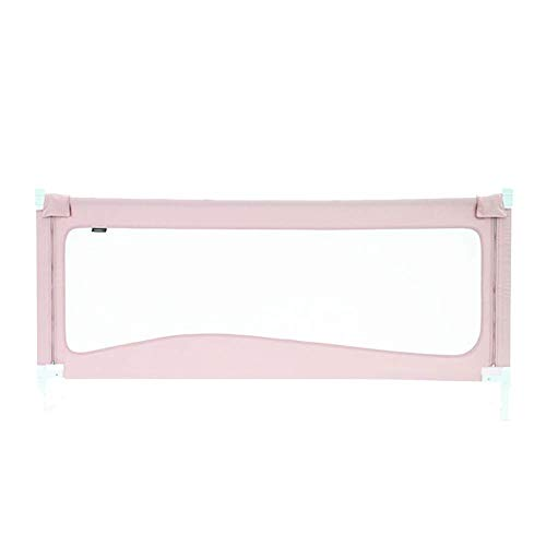 Bed Rail Bed Guard Bed Guardrail Baby Bed Guard Rail Safety Vertical Lift Bedrail Barrier Anti-Fall Protection Guard for Safe Sleep with Ventilated Mesh (Color : Pink, Size : 220cm)