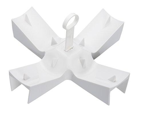 KitchenCraft Mikrowellenhalterung für Ofenkartoffeln mit Rezept, Geschenkverpackung, Plastik, Weiß, 23 x 12 cm