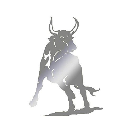 Sticker logo Tête de taureau Adhésif Autocollant - Plusieurs coloris disponibles Argenté