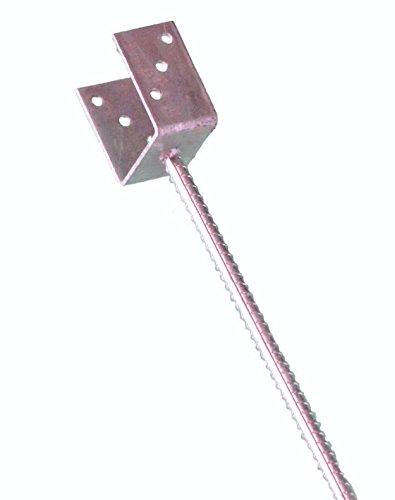 Pfostenträger zum Einbetonieren für Pfosten 7 cm mit Dolle 400 mm lang U- Pfostenträger Gabelweite 71 mm Gesamtlänge 500 mm