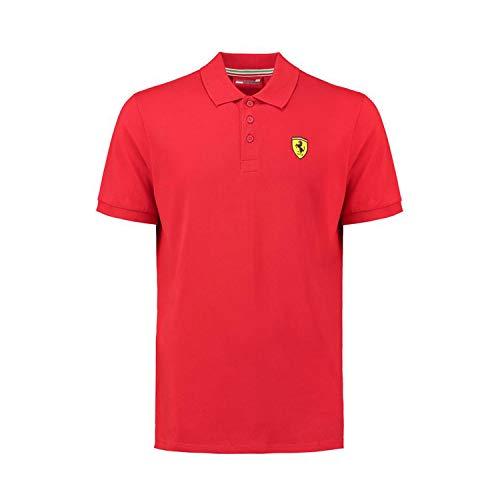Ferrari Polo clásico para hombre, rojo, 2XL