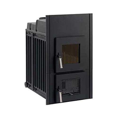 LEDA Kachelofen-Einsatz Rubin K19 (11,0 kW) mit Frontplatte 835 x 480 mm
