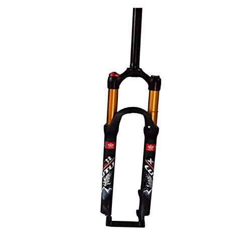 Horquilla de suspensión Ultraligera Horquilla de suspensión de la Bicicleta de montaña de 26 Pulgadas, 1-1/8 'Aleación de Aluminio Ligero MTB MTB Control de Hombro Viaje: 100mm Accesorios para bicic