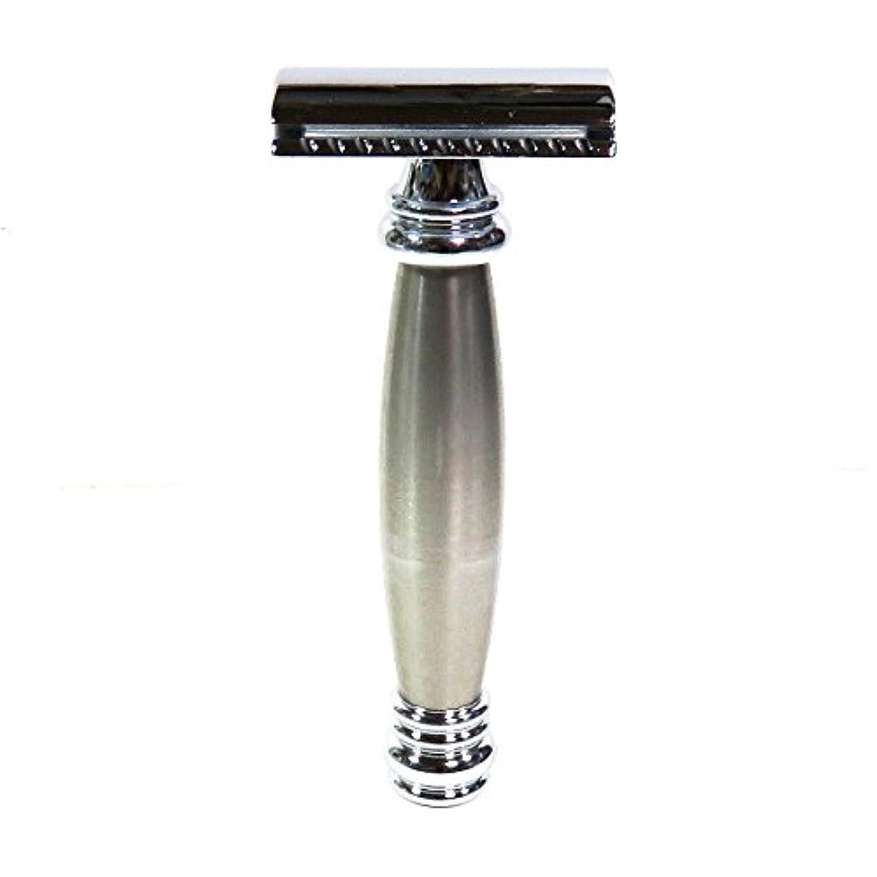 メールバリケードくつろぎメルクールMERKUR(独)髭剃り(ひげそり)両刃ホルダー43002 流線型重厚グリップ