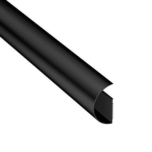 D-Line Maxi CableTraC, TV-Kabelmanagementlösung, Flexible Kabelführung, Kabelabdeckung – 50 mm (B) x 25 mm (H) x 1 Meter (L) – Schwarz