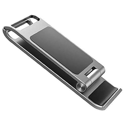 Odoukey iPhone Soporte Plegable Soporte para teléfono móvil pequeño y portátil Plegable de teléfono Soporte de Plata Soporte del teléfono móvil
