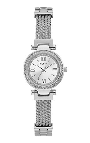 Guess Damen Analog Quarz Uhr mit Edelstahl Armband W1009L1