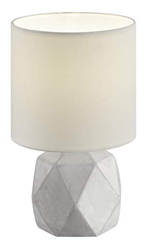 Reality, Lampe de table, Pike 1xE14, max.40,0 W Tissu, Blanc, Corps: Beton, Couleur beton Ø:16,0cm, H:28,0cm IP20,Interrupteur de cordon