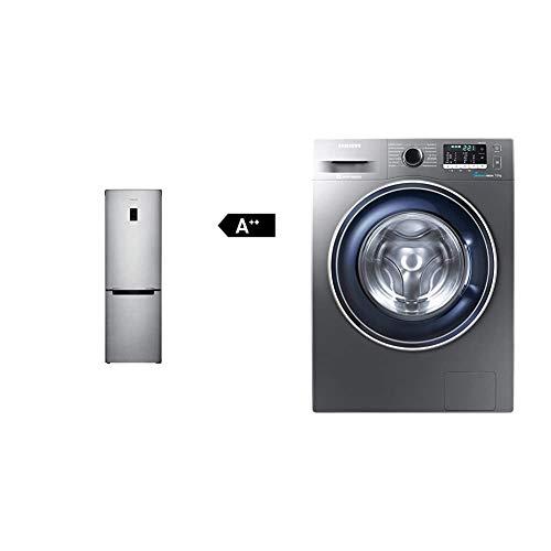 Samsung RB31HER2CSA/EF Kühl-Gefrier-Kombination/206 L Kühlen/98 L Gefrieren/No Frost/Power Freeze Funktion & WW70J5435FX/EG Waschmaschine Frontlader/A+++/1400 UpM/7kg/85 cm Höhe/grau