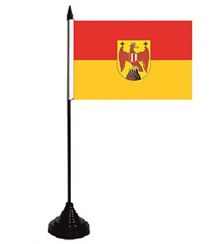 U24 Tischflagge Burgenland Fahne Flagge Tischfahne 10 x 15 cm