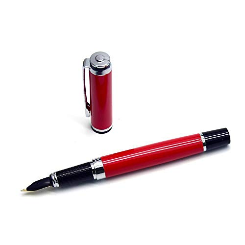 Vulpen Schrijven Tool Metal Signature Pen Vulpen Lady Pen bedrijfs van het Bureau Gift Pen 0.5mm Red School Student Kantoor Briefpapier (Color : Red, Size : 13.9x1.1cm)