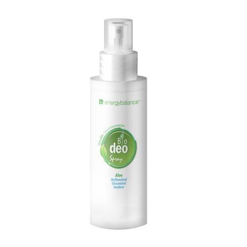 BIO Deo Spray - 75% Aloe - Orgánico certificado - Sin alcohol - Sin sales de aluminio - Sin pruebas con animales - Vegano - Sin manchas - Unisex - Calidad de marca de EnergyBalance de Suiza -100ml