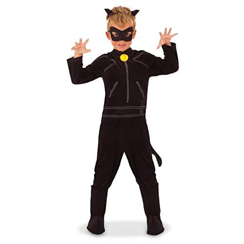 Generique - Cat Noir-Lizenzkostüm für Kinder Miraculous schwarz 116/128 (7-8 Jahre)
