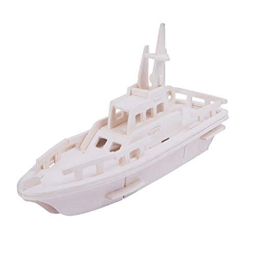 Toyvian 3D Puzzle Holz BAU Bausteine ??Set für Kinder Gebäude DIY Mechanische Spielzeug Geschenk (Rettungsboot)