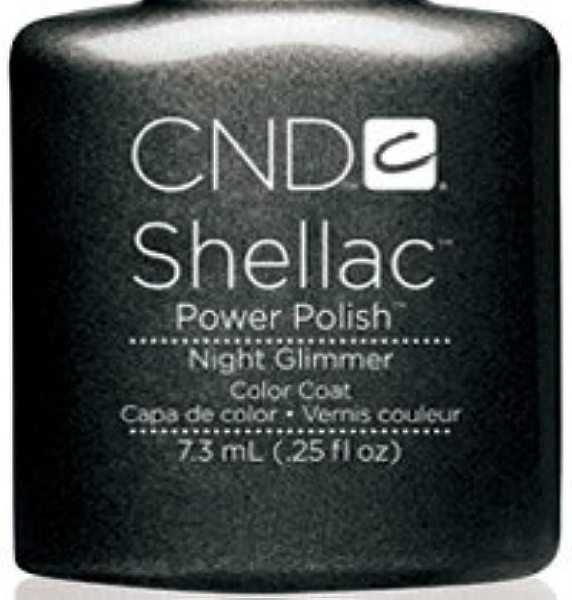 ペースト定期的な証人CND シェラック UVカラーコート 7.3ml<BR>381 ナイトグリマー