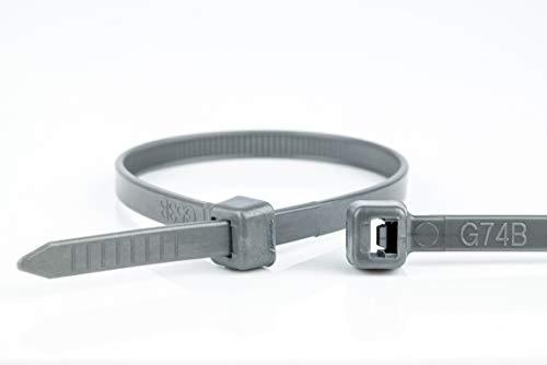 WKK Kabelbinder grau, 100x2,5mm, 100 Stück