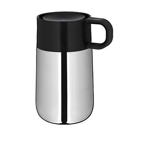 WMF Impulse Travel Mug, Thermobecher Edelstahl 0,3l, Automatikverschluss, 360°-Trinköffnung, hält Getränke 6h warm/ 12h kalt