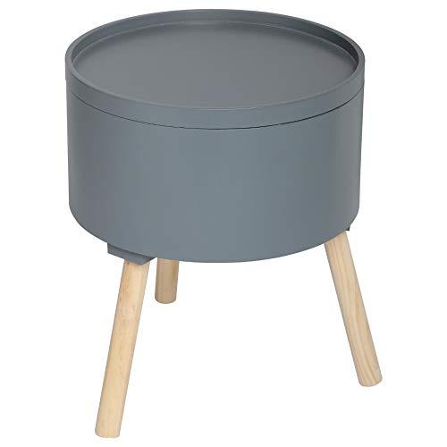 Atmosphera 2 en 1 Table Basse + Coffre de Rangement - Style scandinave - Coloris Gris Foncé