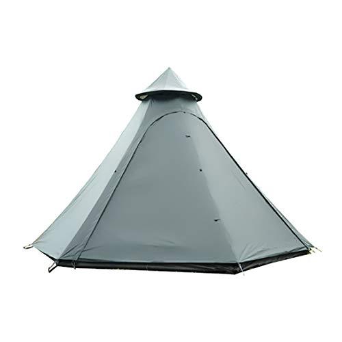 Adecuado para tiendas de campaña, tiendas de campaña a prueba de viento a prueba de viento en forma de cúpula multifuncional, transpirables 360 °, impermeables, a prueba de UV, 3-4 personas,Army green