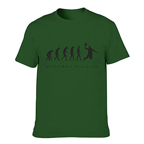 Men's Basketball Evolution Cotton T-Shirts - Fashionable Shirt - - L