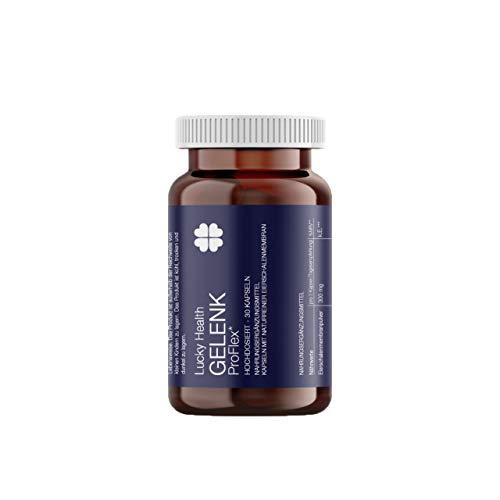 Lucky Health Gelenk ProFlex Eierschalenmembranpulver Gelenkkapsel in Apotheken-Qualität für eine normale Knochenfunktion, Kollagenbildung - Made in Germany, 30 hochdosierte Kapseln