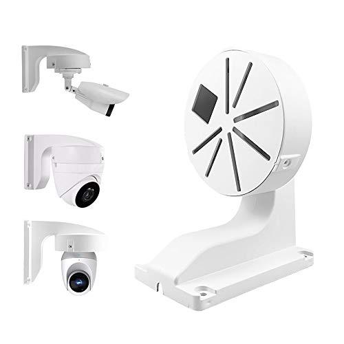 compcctv CCTV Security Camera Mount Bracket, ABS Indoor Outdoor Wall Mount L-Type Bracket for CCTV Security Dome IP Camera Mounting,DaHua Hikvision Dome Cameras