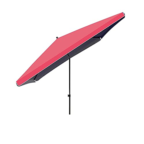 Paraguas De Patio 250x320cm, Paraguas Al Aire Libre, Paraguas Inclinable con Botón Pulsador, Paraguas Rectangulares para Jardín, Patio, Patio, Piscina,Rojo