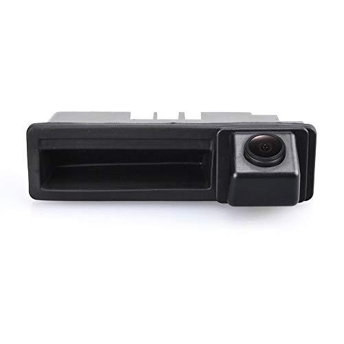 HD CCD Kofferraumgriff Rückfahrkamera Farbkamera Einparkkamera Nachtsicht Rückfahrsystem Einparkhilfe-Wasserdicht & Stoßfest für Audi A4 B7 8H A3 8P Baujahr A6 RS4/Avant Quattro RS6 Plus Q7 A1/S1 8X