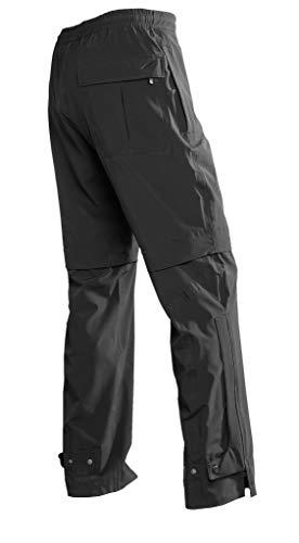Glen Echo Golf Stretch Tech Shorts Convertible Rain Pants Black
