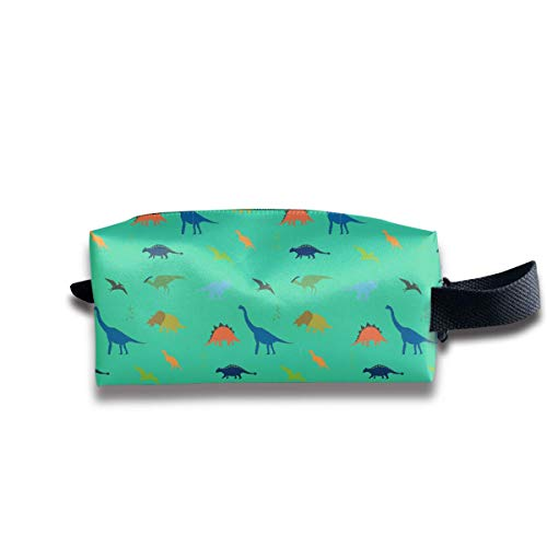 Cool Dinosaur Pattern Storage Bag Women Cosmetic Train Case Holder - Multi-Purpose Handbag Pens Pencil Case, Carrying Case for Makeup Brushes, Pen, Eyeliner, Travel, Cash