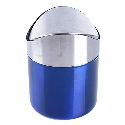 JRXyDfxn Concise 1PCS Desktop-Papierkorb Home Office Trash Can Car Trash Can abnehmbare Flip Trash Can Fall-resistent (Color : Blue)