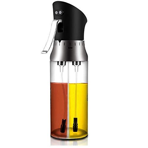CestMall Spruzzatore Olio 200ml,Oil Sprayer Dispenser con tubo spazzola Aceto/Olio Spruzzatore Nebulizzatore Olio Cucina in Vetro per BBQ, insalata, pane di cottura, cucina