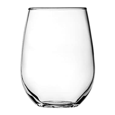 Anchor Hocking Vienna Stemless White Wine Glasses, 15 oz (Set of 4)