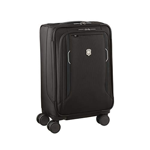 Victorinox WT 6.0 Softside Spinner Luggage, Black, Expandable Carry-On, Frequent Flyer (22')