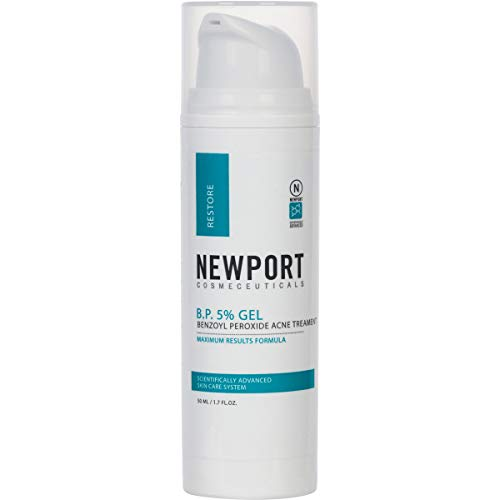 Benzoyl Peroxide 5% Gel - Acne Treatment & Pimple Cream by Newport Cosmeceuticals
