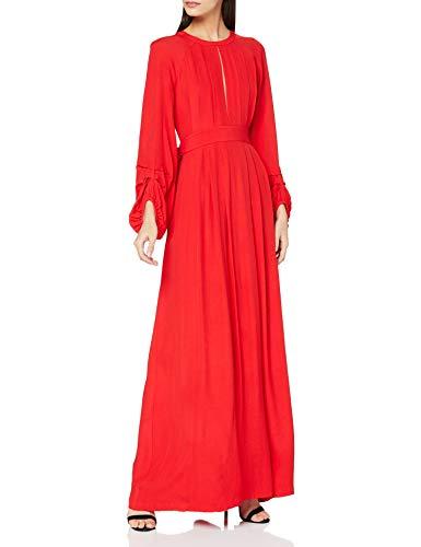 Intropia P672VEX06135110 Vestido de Fiesta, Rojo (Amapola 110), 38 (Tamaño del Fabricante:38) para Mujer